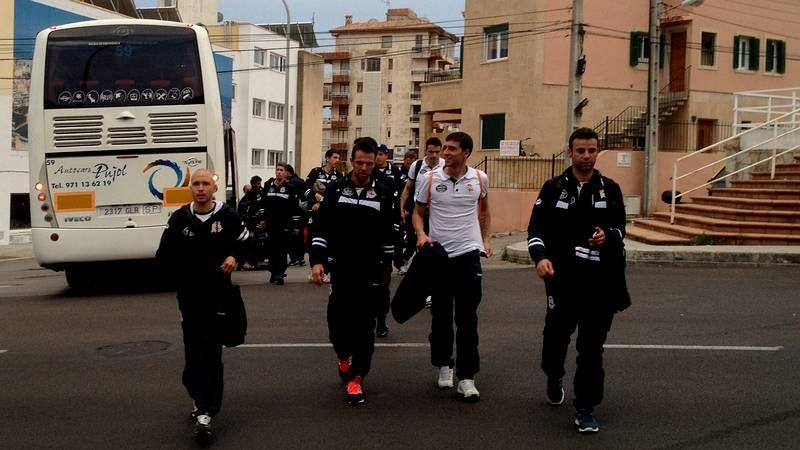 El Dépor, a su llegada a Mallorca