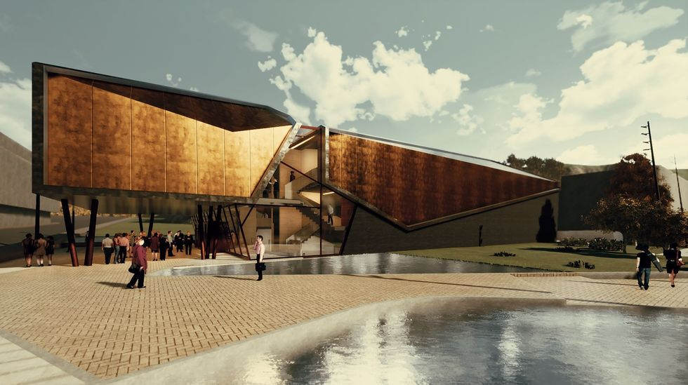 «Choiva de pedra e cristal» , diseño elegido para el auditorio de Ribeira