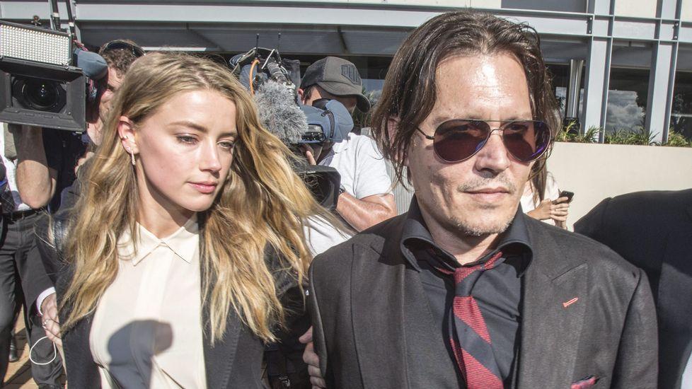 Amber Heard y Johnny Dep