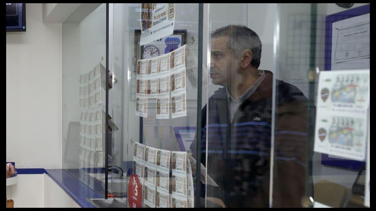 La administración de lotería situada en la Praza Maior de Viveiro, la pasada navidad