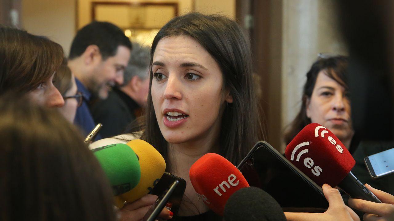 La portavoz de Unidos Podemos en el Congreso de los Diputados, Irene Montero