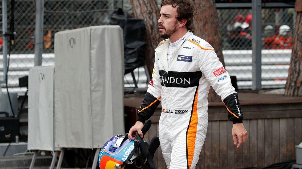 Fernando Alonso, después de retirarse en Mónaco