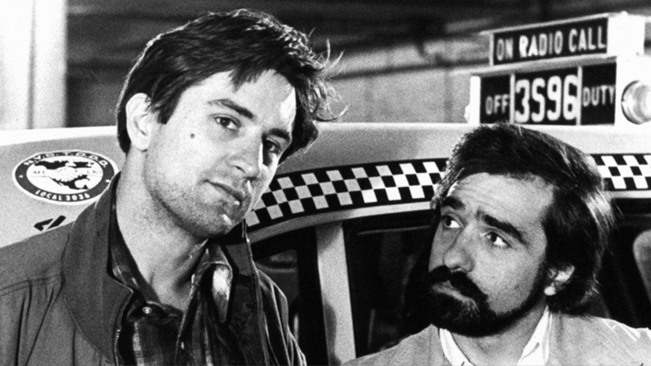 Martin Scorsese, junto a Robert de Niro en el rodaje de 'Taxi Driver'