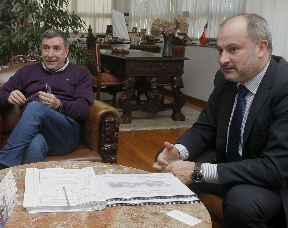 Manuel Ruiz se reunió ayer con Juan Gómez, de Arriva.
