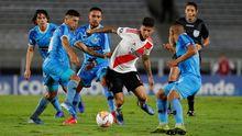 El River Plate, en el último partido que jugó, el pasado día 12, correspondiente a la Copa Libertadores
