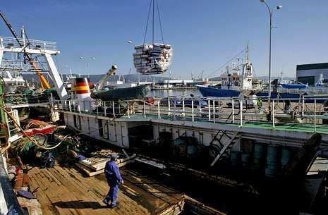 La mayor parte de la flota expulsada de Mauritania es de Marín, adonde llegó hace unas semanas.
