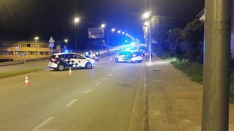 Control de la Policía Local en la avenida de Madrid