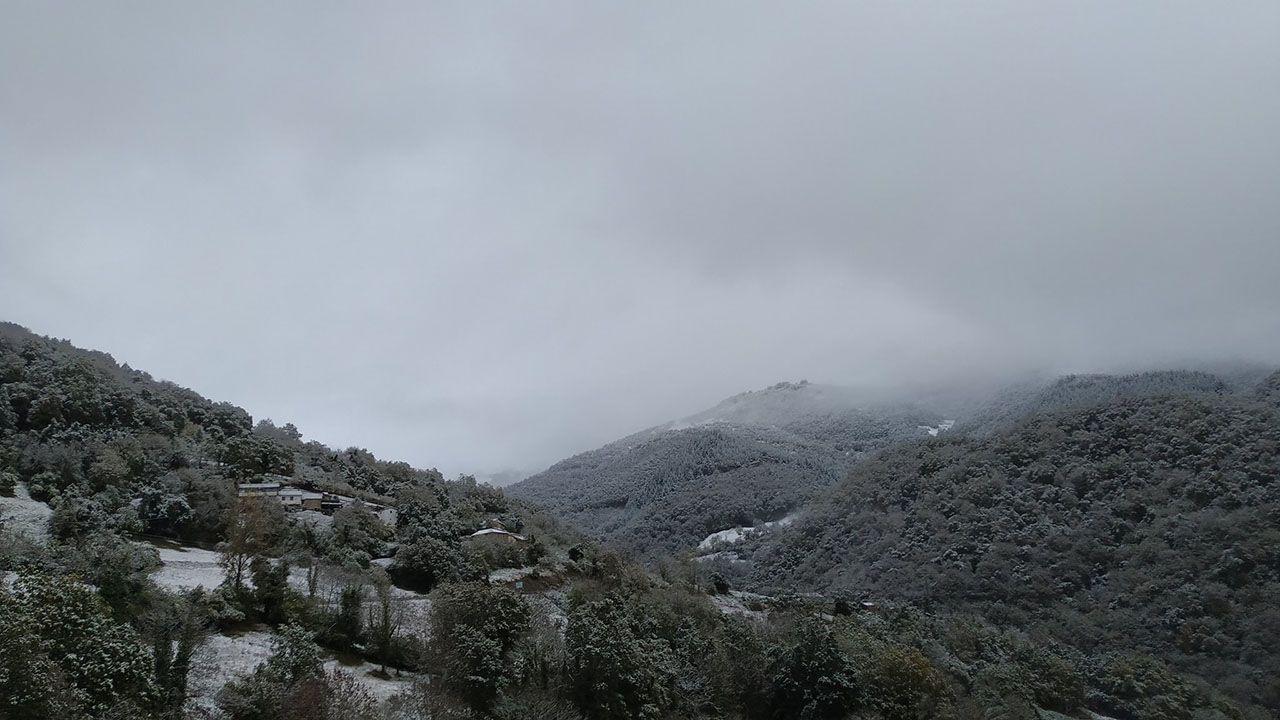 Los valles del Oso recubiertos de nieve