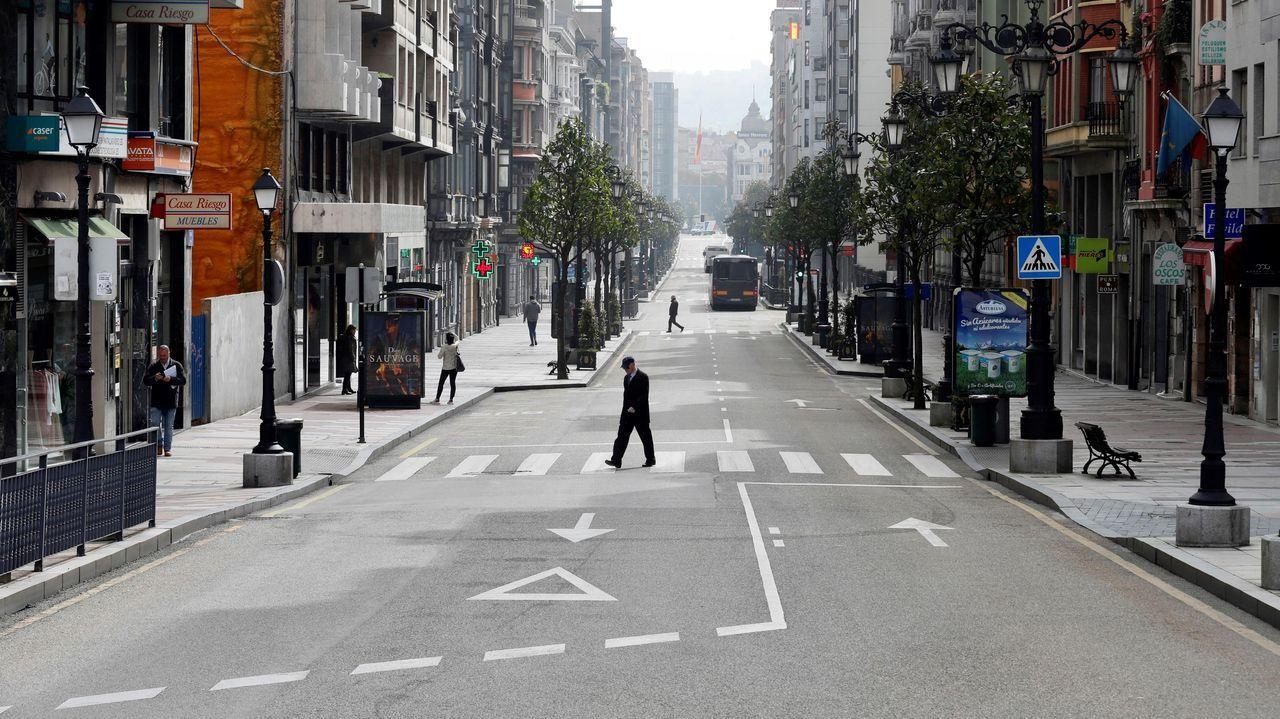Panorámica del centro de Oviedo