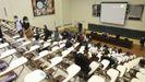 Inicio del curso 2020-2021 en la Facultade de Económicas de la USC