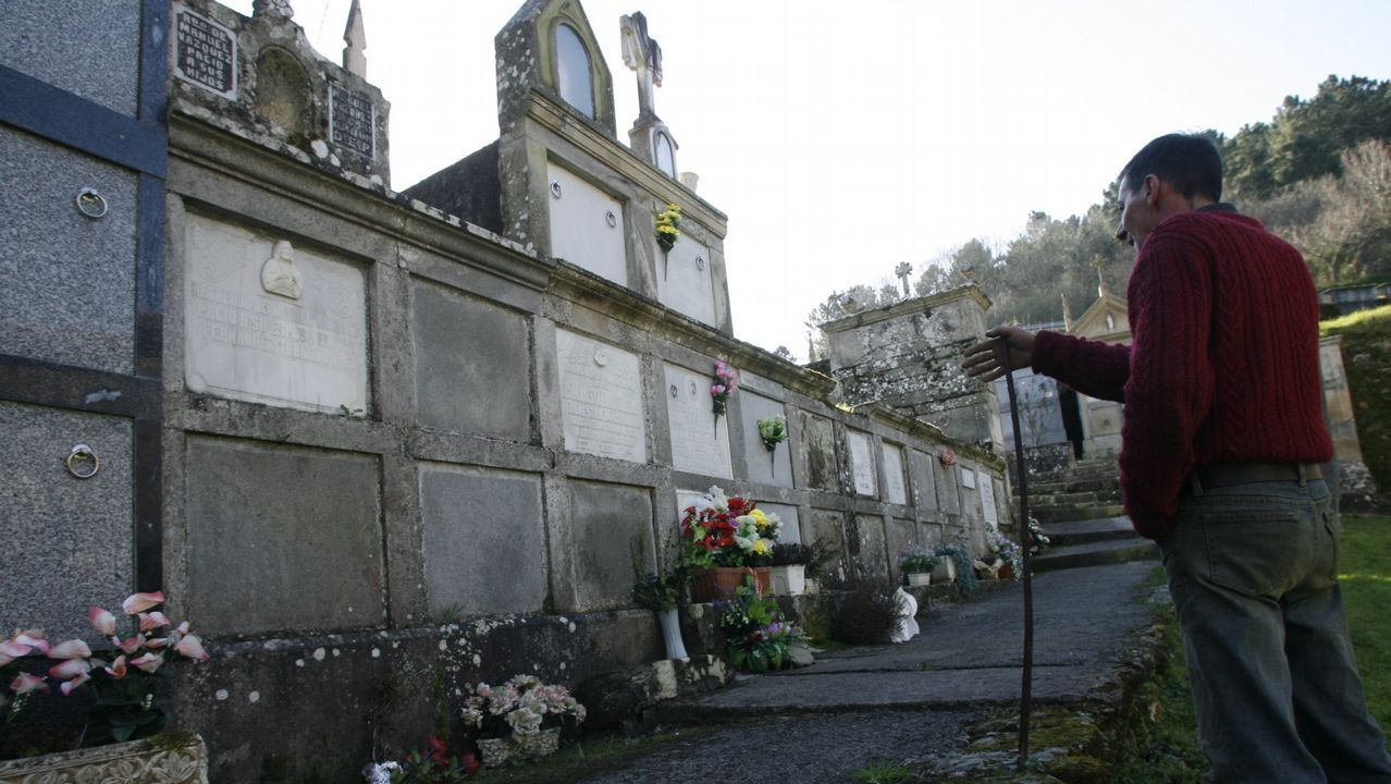 La tumba en la que están los restos de Paulino no tiene nombre
