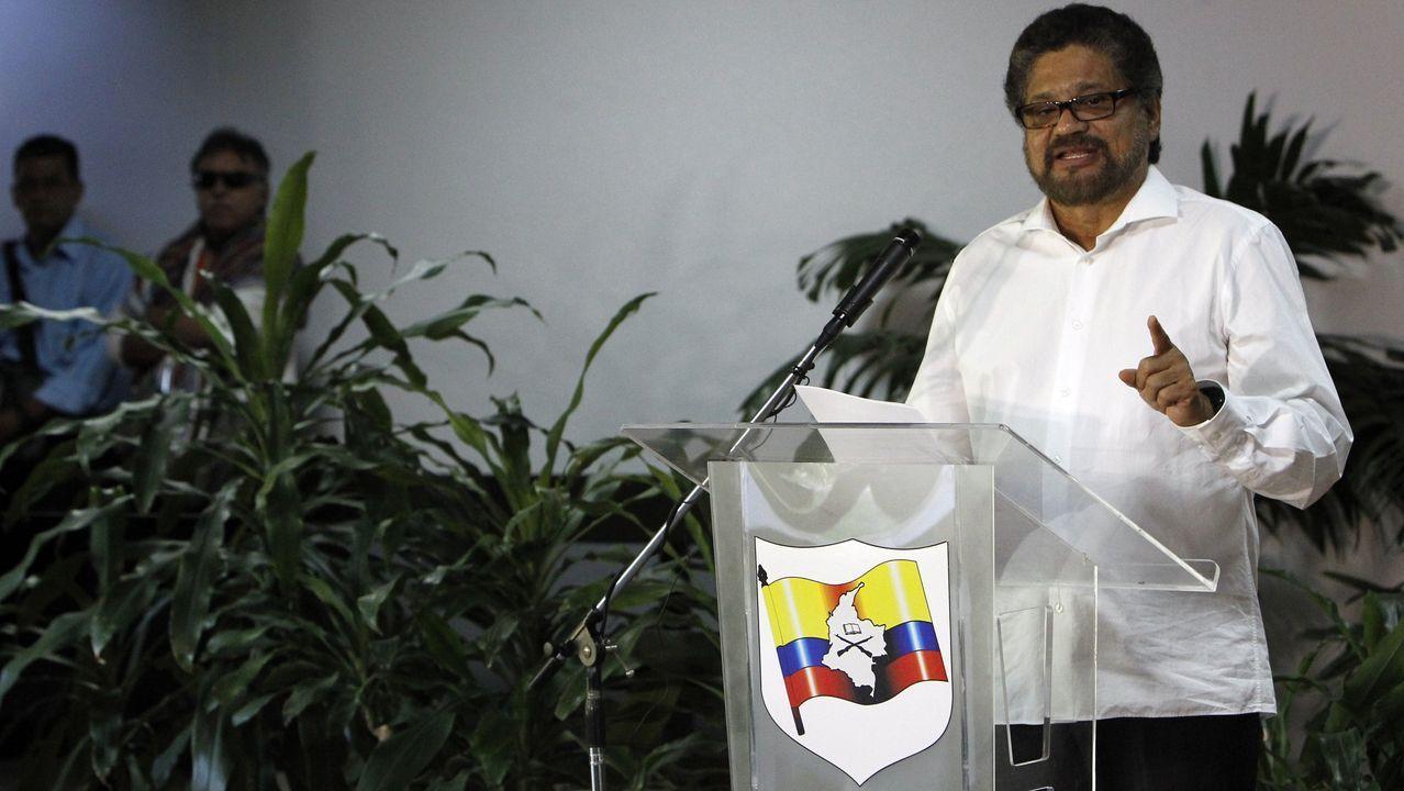 El segundo jefe de las Fuerzas Armadas Revolucionarias de Colombia (FARC) Luciano Marín, alias «Iván Márquez», en una imagen de archivo