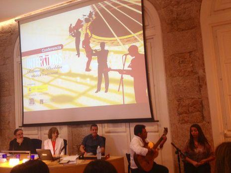 El cuadro flamenco Marina Romero, de Sevilla, actuó en el inicio de la jornada