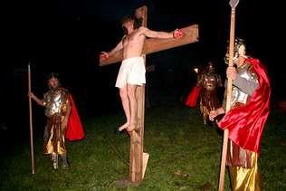Imagen del Vía Crucis viviente de Villanueva de Oscos