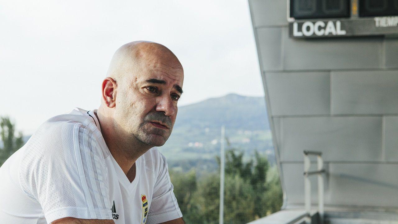 Pedro Arboleya durante la entrevista