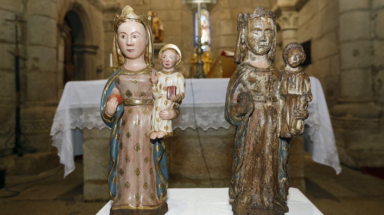 Encuentran una talla románica de la Virgen en Vilanova.Pálido Domingo presenta «Non hai que ser unha casa para ter pantasmas»