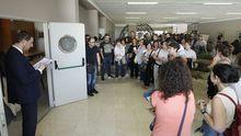Examen de las oposiciones de Educación en el CIFP Politécnico de Santiago
