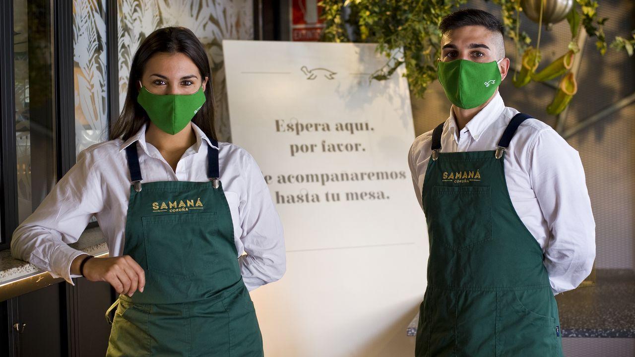 Imagen de archivo de parte del equipo que trabaja en Samaná