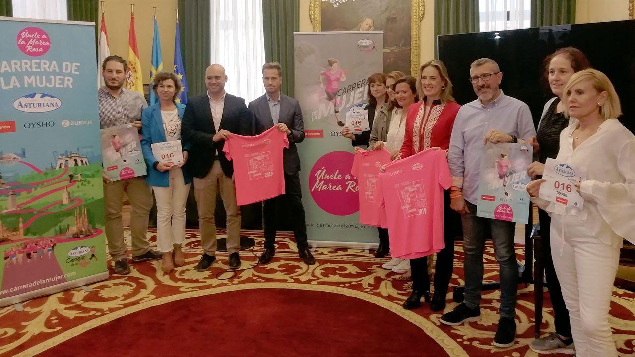 Presentació de la XV Carrera de la Mujer en el Ayuntamiento de Gijón