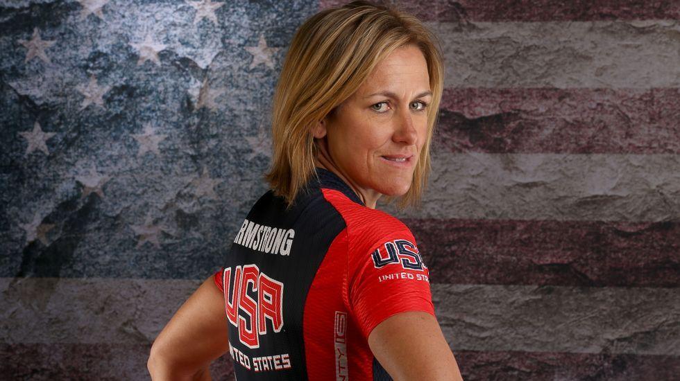La ciclista americana Kristin Armstrong