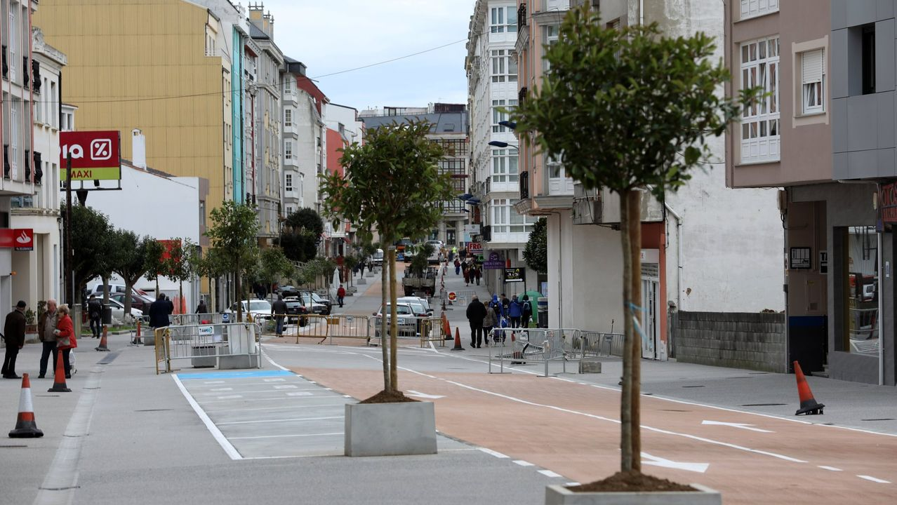Imagen de archivo de la calle Álvaro Cunqueiro de Foz, donde se produjo el suceso
