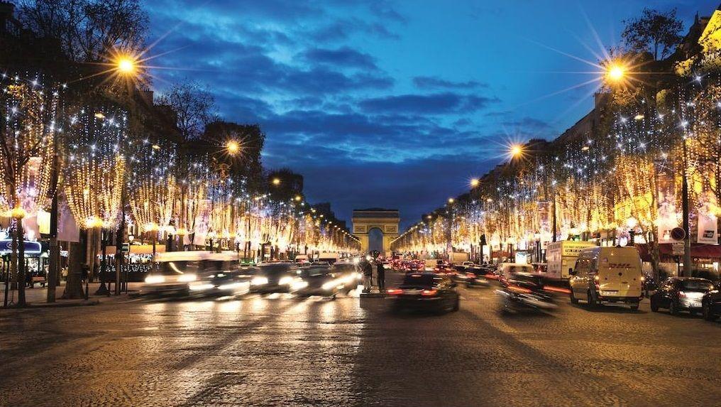Iluminación navideña en París