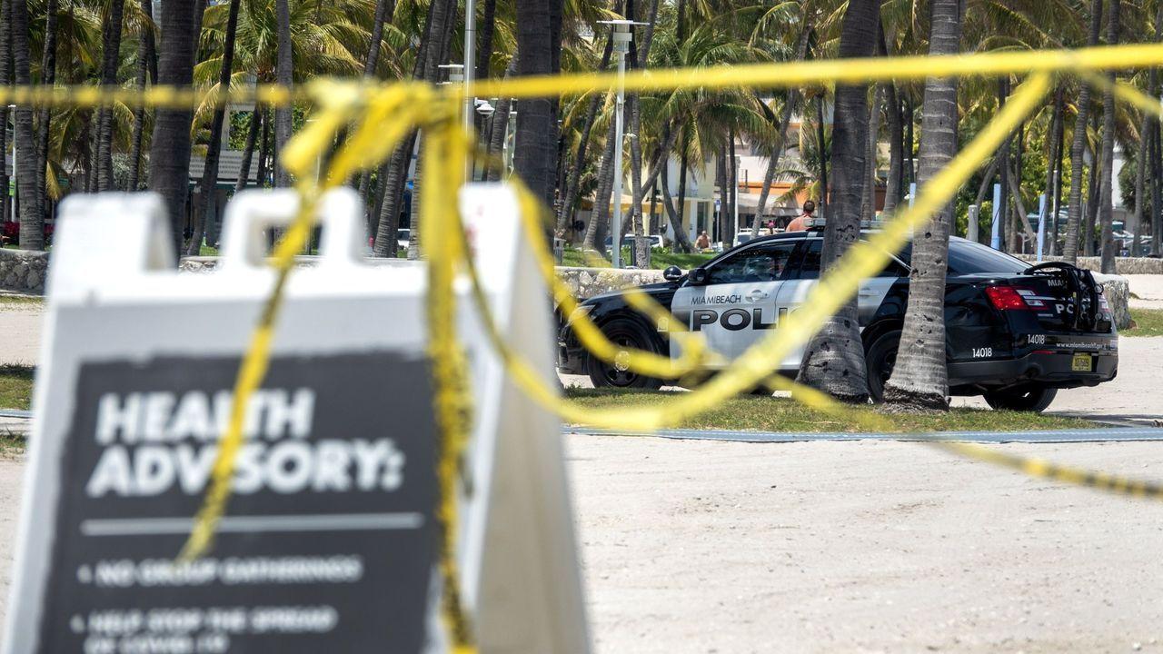 Las playas de Miami Beach continuarán cerradas hasta junio