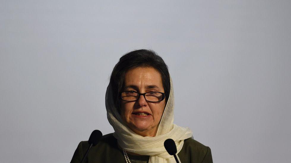 El presidente del Comité de Relaciones Exteriores del Senado, Bob Corker..Rula Ghani, la primera dama de Afganistán.