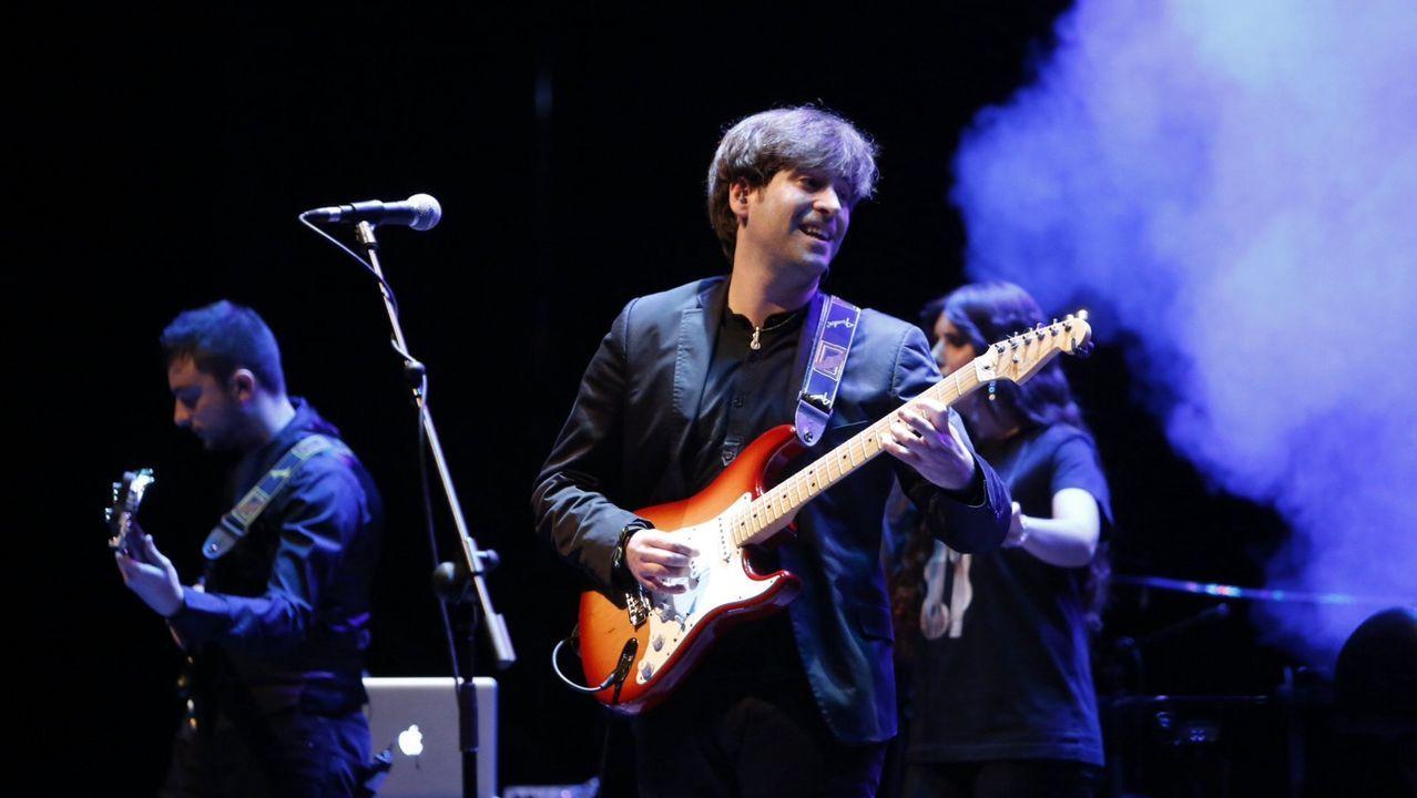 El guitarrista Daniel Minimalia, durante un concierto en Ourense