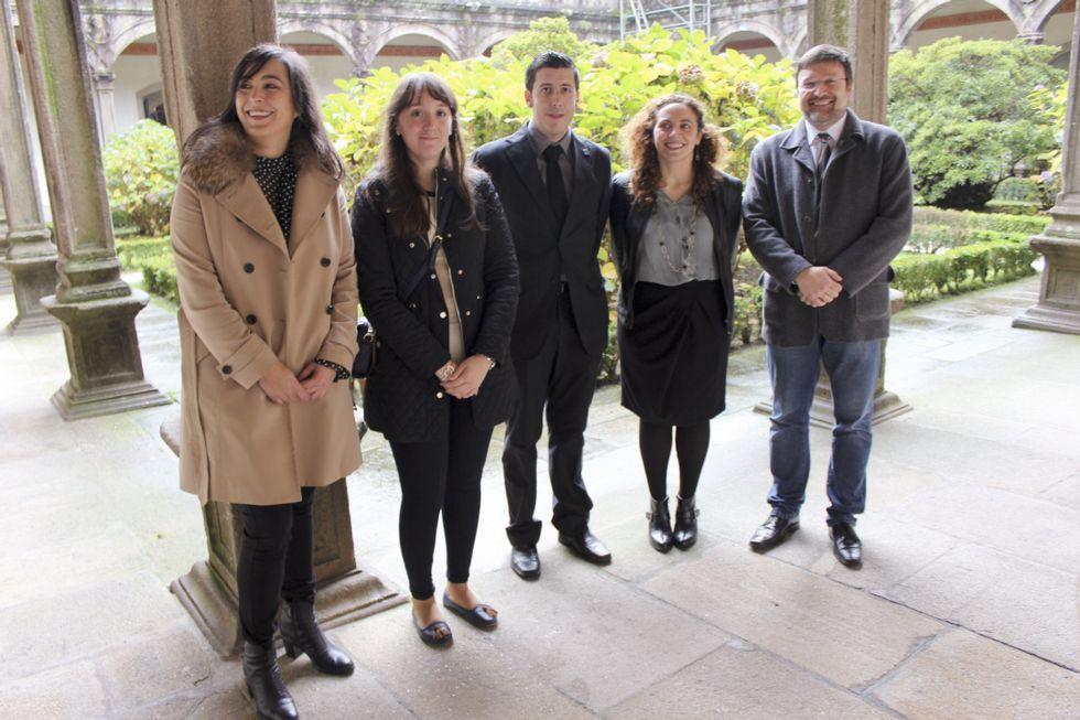 Los premiados del Idega, en el Colegio de Fonseca.