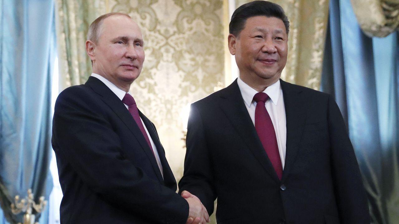 Encuentro de Trump y Putin en Hamburgo.Putin se reunió con el presidente chino Xi Jinping