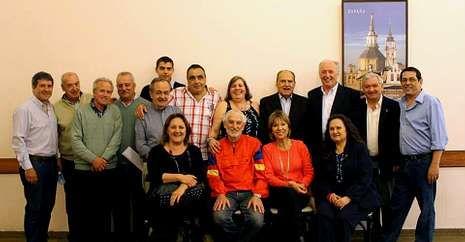 La nueva directiva del Centro Lalín, Agolada, Silleda de Buenos Aires elegida el pasado domingo.