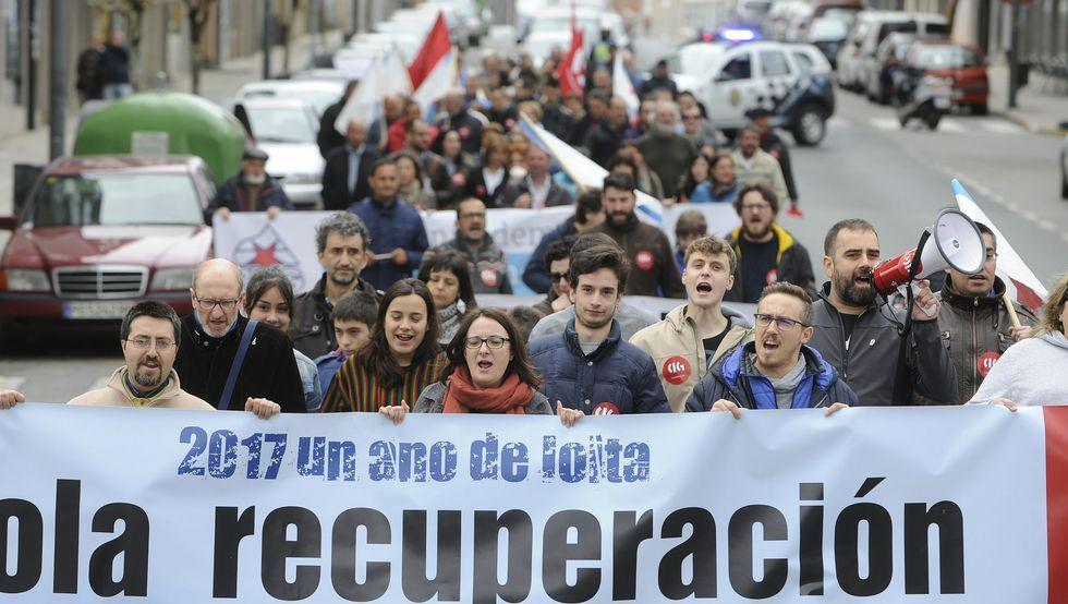 Manifestación del 1 de Mayo en Vilagarcía