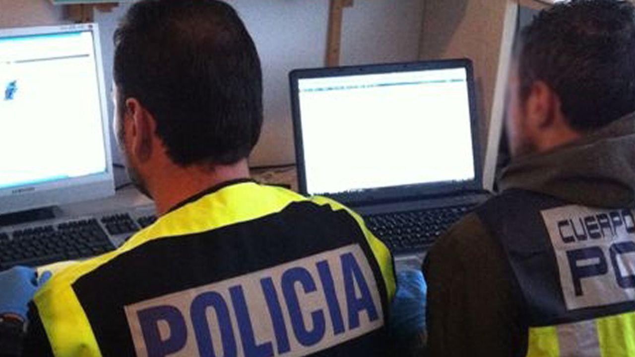 Macrooperación policial en toda España contra la distribución de pornografía infantil.Entrada a los Juzgados