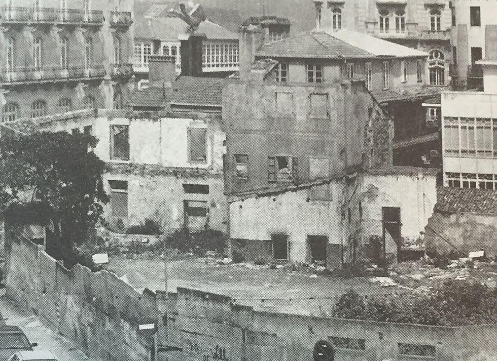 Las ruinas del periódico se mantuvieron bastante tiempo.