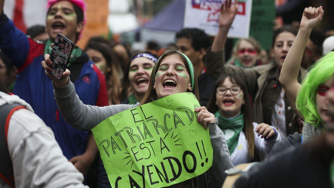 Manifestación por la legalización del aborto