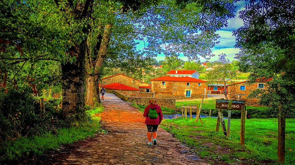 Entrada del Camino en Ribadiso.