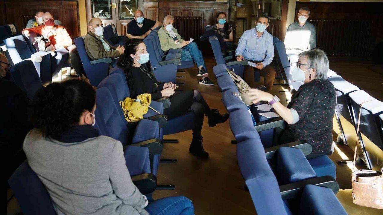 Representantes de diversas entidades culturales se dieron cita ayer en el Liceo de Ourense