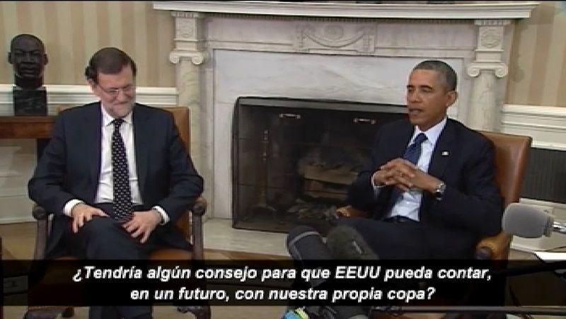 Obama le pregunta a Rajoy cómo ganar el mundial.Sánchez rechazó por inadecuada la invitación de Mas para que Rajoy acuda a la Generalitat.