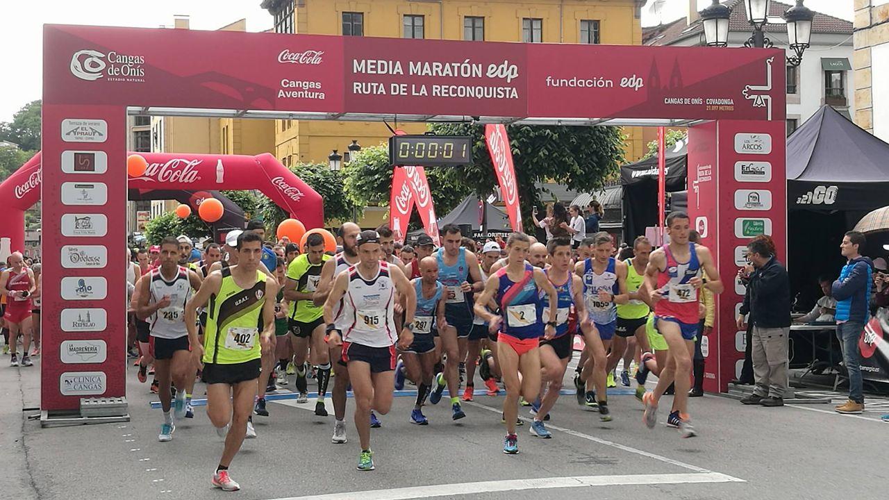 La media maratón Ruta de La Reconquista, en imágenes