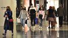 Ambiente de compras en A Coruña tras meses de cierre perimetral