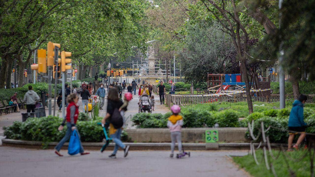 Imagen de un parque de Barcelona este lunes