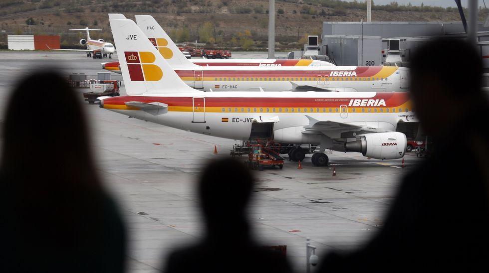 Una pasajera de récord.Aeropuerto de Asturias