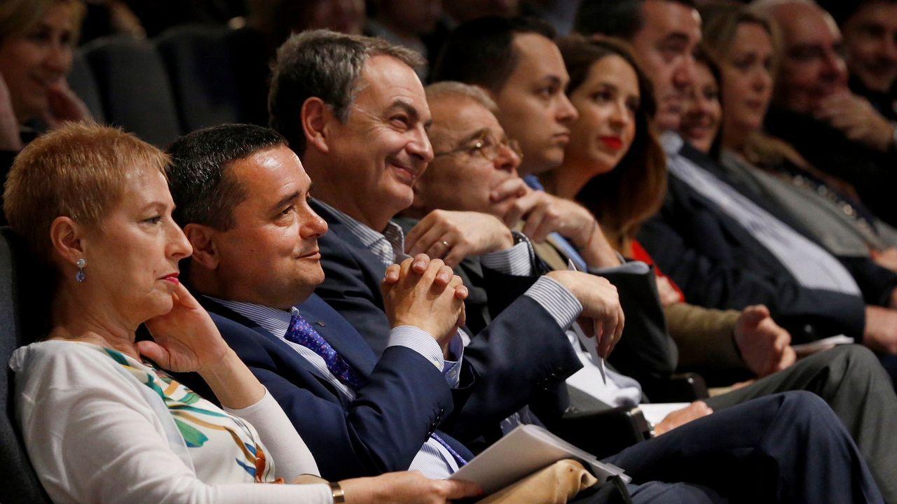 José Luis Rodríguez Zapatero en la clausura del congreso bienal del Consejo General de Colegios Oficiales de Secretarios, Interventores y Tesoreros de la Adinistración Local (Cosital) celebrado en Gijón