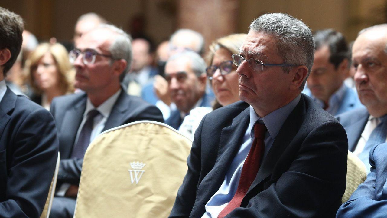 Alberto Ruiz Gallardón, hace dos años en  la II Asamblea Madrid Foro Empresarial