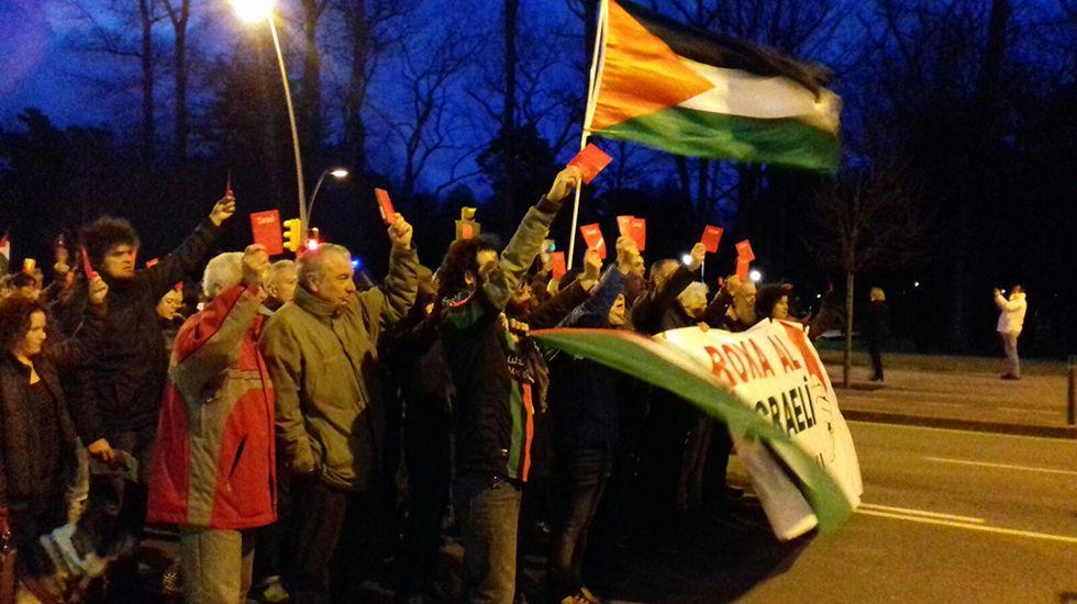 BARGUTIH.Manifestación contra Israel en Gijón