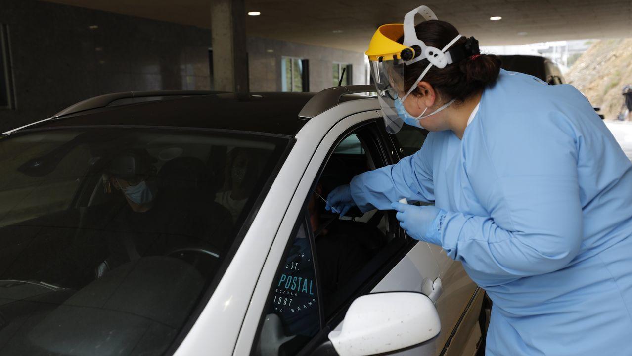 El sábado, en el Hospital da Mariña se realizaron 135 PCR, como esta de días pasados