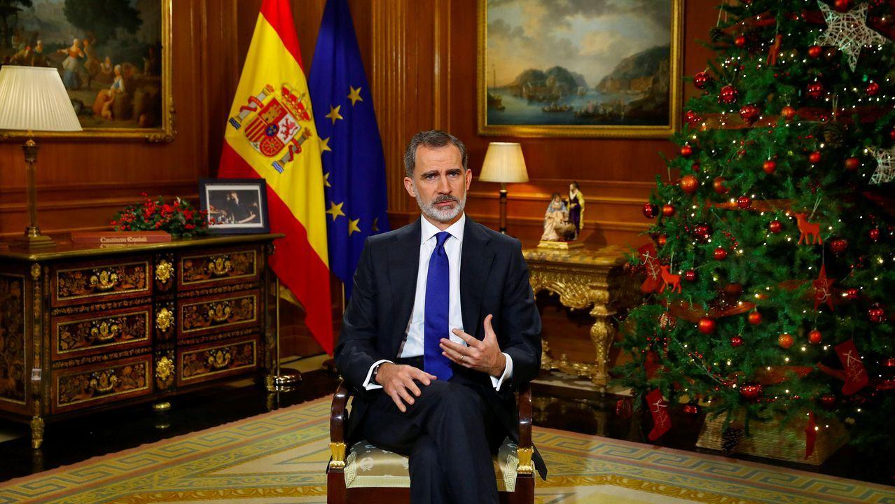 Felipe VI defendió en su mensaje navideño la vigencia de la Constitución y su compromiso con la ética pública
