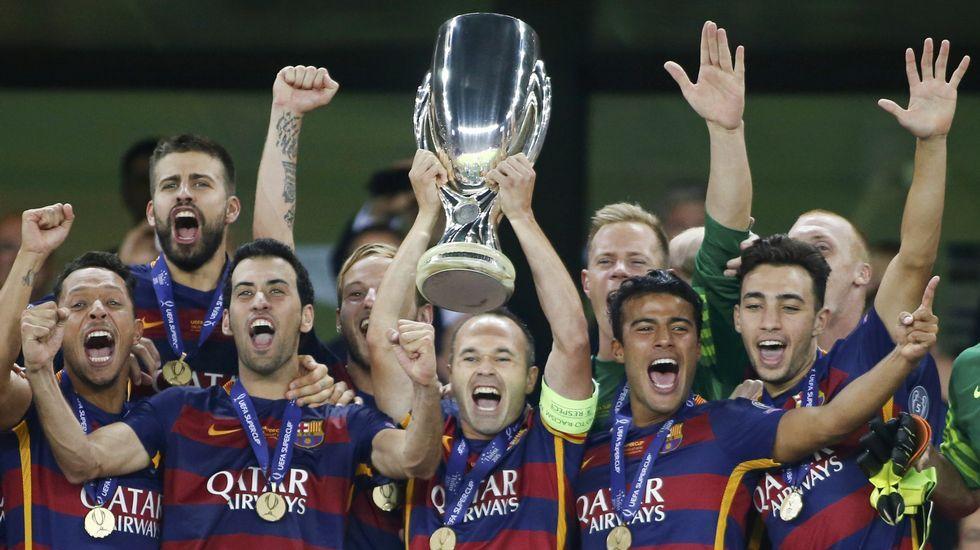 Supercopa europea 2015: El Barcelona-Sevilla, en fotos