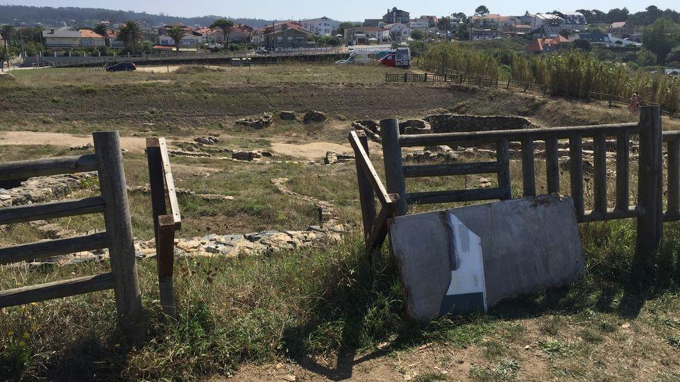 Las imágenes que deja la despoblación en el interior de Lugo.El alcalde de NIgrán y el presidente de la comunidad de montes de Chandebrito en una zona repoblada